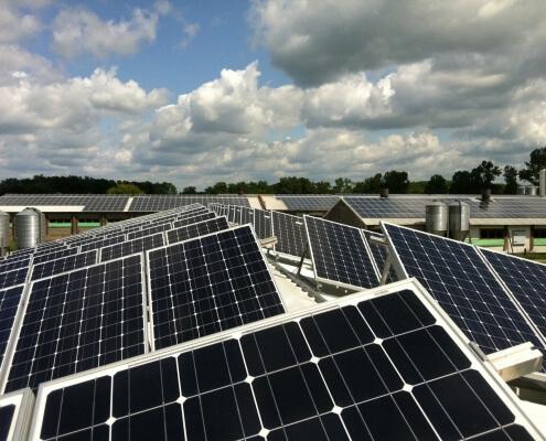 Solardeckel aufgehoben